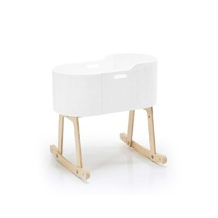 Rocking Cradle White Lacquered